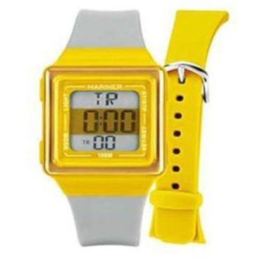 000e3746863 Relogio Unissex Digital Mariner Troca Pulseira - Hb 8y - Cinza amarelo