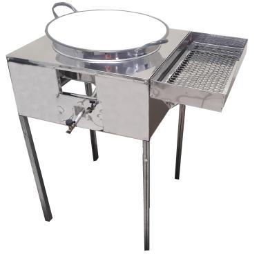 Fogão Pasteleiro Fritador De Pastel C/ Escorredor E Tacho 18