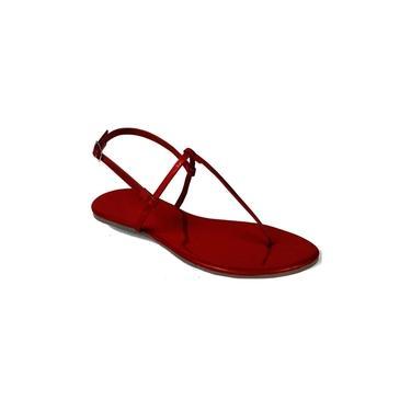 Imagem de Sandália Mercedita Shoes Flat Casual Verniz Vermelho