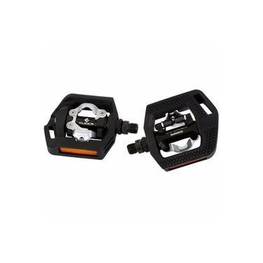 Pedal PD-T421 Clip Preto Click'r com Refletor e Tacos SM-SH56 - Shimano