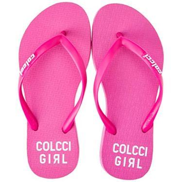 Chinelo Neon Colcci Fun Feminino Rosa 35-36