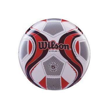 Bola De Futebol De Campo Cycle New N.5 Verm branco Wilson e3522563e6764