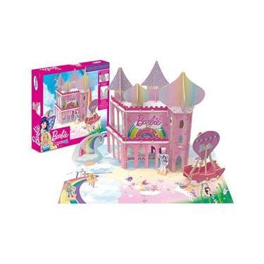 Imagem de Quebra-cabeça 3D Playset Reino Dreamtopia Barbie - Xalingo