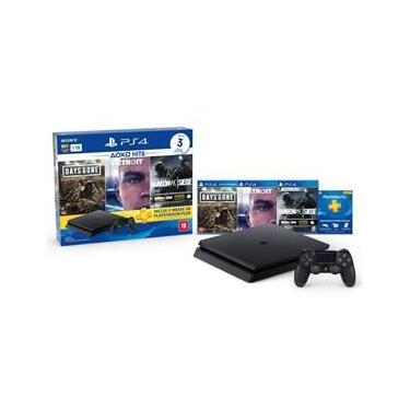 Console Sony PlayStation 4 - Slim 1TB Hits Bundle 5 com Voucher PS Plus + 1 Dualshock 4