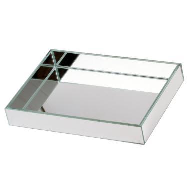 Imagem de Bandeja Espelhada 12X22Cm Para Kit Lavabo Higiene Cr Vidros
