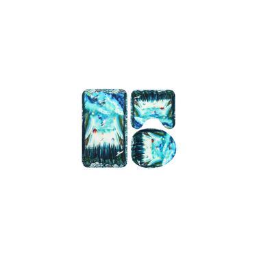 Imagem de 4 peças / 3 peças / 1 peça Cortina de chuveiro do golfinho do oceano à prova d'água Tapete de cortina de banheiro com tampa de banheiro sem tampa Cortinas de banho com tampa de banheiro antiderrapante Tapete de piso Tapete de Natal TypeA (3PCS / Set)