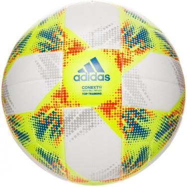 Bola Futebol Campo Adidas Conext 19 Top Replique DN8637, Cor: Branco/Amarelo, Tamanho: U