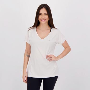 Camiseta Fila Dots Feminina Branca - G