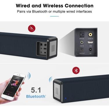 Imagem de Youxiu-caixa de som soundbar para tv, 100w, bluetooth, 2.0 canais, home theater, sistema de som,