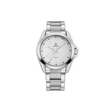 b1da24e4c9f Relógio Masculino Weide Analógico Wh801g Prata E Branco