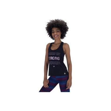Camiseta Regata Vestem Run Lycra Preto - Feminina Vestem Feminino