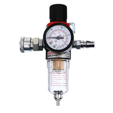 ULTECHNOVO Filtro Do Compressor de Ar Com Medidor de Pressão Do Regulador Do Filtro De Ar Comprimido Filtro Regulador Pneumático Acessório Combo