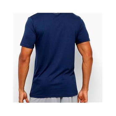 Imagem de Camiseta Under Armour Sportstyle Logo Masculina - Marinho e Branco
