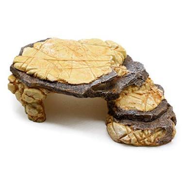 Imagem de FEIlei Decorações para aquários de peixes, resina para répteis esconde tartarugas, esconderijo de rochas e casas de lagarto