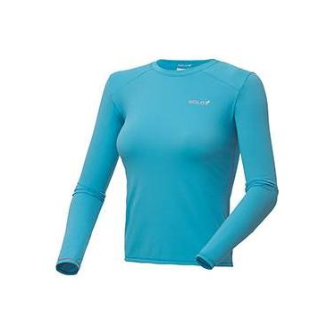 Camiseta Ion UV ML Lady - Azul Claro - Solo