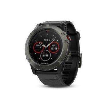 aca45b5cb20 Relógio Multiesportivo Garmin Fenix 5X Sapphire Cinza com Monitor Cardíaco  no Pulso