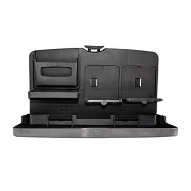 Imagem de Wakauto Organizador multifuncional de assento traseiro de carro com bandeja de mesa, suporte de armazenamento de assento de carro, porta-malas de armazenamento