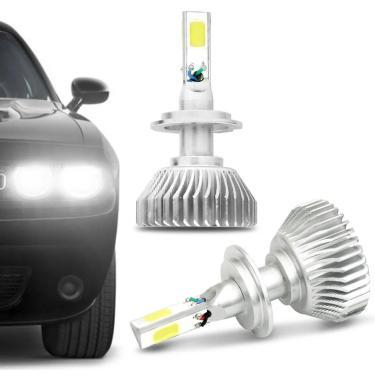 Kit Par Lâmpada Super LED 3D H4 H7 H11 H16 H27 HB3 HB4 6000K Power LED Efeito Xênon H7 6000K