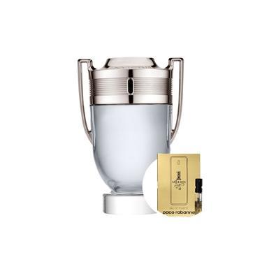 Invictus Paco Rabanne Eau de Toilette-Perfume Masculino 100ml+1 Million Paco Rabanne Eau de Toilette