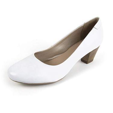 Sapato Scarpin Salto Grosso Linha Social Elegance Miuzzi - 3501 - Branco
