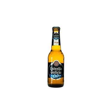 Cerveja Estrella Galícia sem álcool Long Neck 250 ml - Espanha