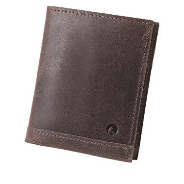 Carteira Couro Legítimo Slim Masculina Cnh, Cartões e Notas Salvador Couro50 (Tabaco)