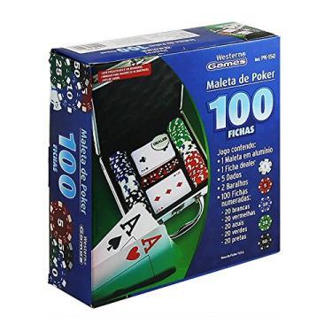 Maleta Poker 100 Fichas Western Western Maleta Poker 100 Fichas Western Colorido