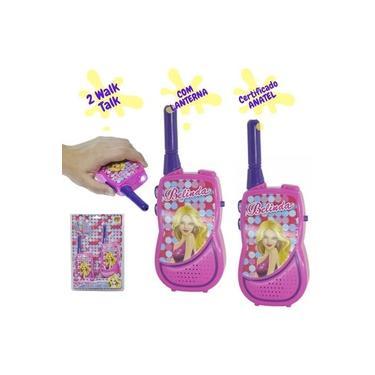 Walkie Talkie Infantil Brinquedo Meninas Pilha c/ Lanterna ANATEL