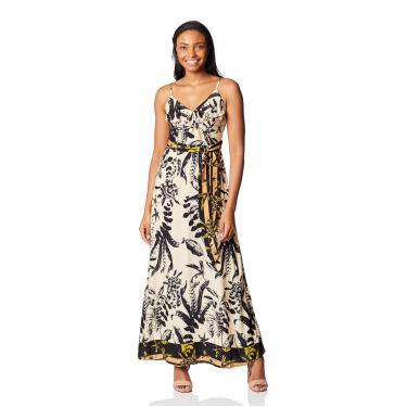 Vestido Casual Vestido Longo, Mercatto, Feminino, Areia, P