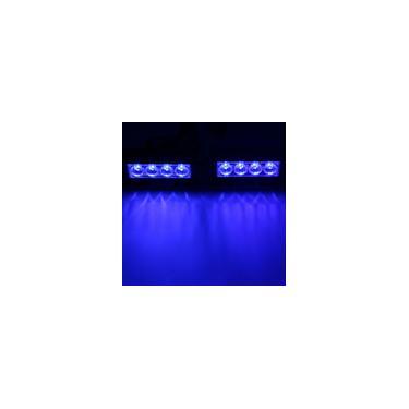 2x 12 V 4LED Strobe Flash Grille Luz Aviso Hazard Emergência Truck Car Lâmpada