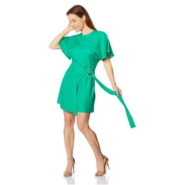 Vestido Curto Sommer, Feminino, Verde Jolly, G