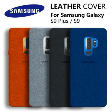 100% novo original genuíno samsung galaxy s9 s9 plus s9 + alcantara capa de couro luxo premium caso