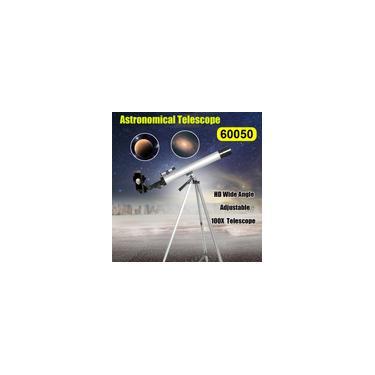 Imagem de Telescópio Astronômico 50mm Abertura 100X Zoom HD Grande Angular Conjunto de Alta Resolução
