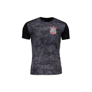 Camisa Corinthians Basic Camuflagem Masculino - Preto cinza e2fe76928c7f6