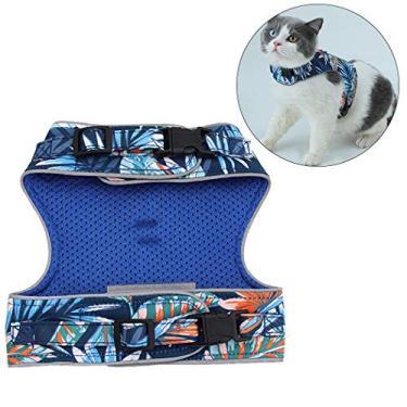 Dorakitten Colete reflexivo para gatos criativo ajustável peitoral peitoral para gatos com coleira