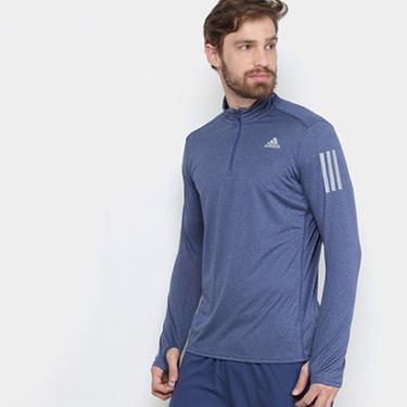 b6b2ac839c Camiseta Adidas Manga Longa Rs Ls Zip Masculina - Masculino