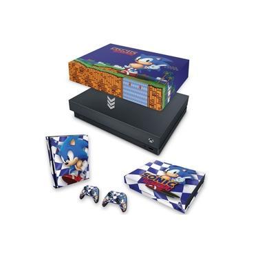 Capa Anti Poeira e Skin para Xbox One X - Sonic The Hedgehog