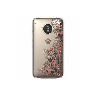 Capa Personalizada para Motorola Moto G5 - FLORES PASSAROS - Quark