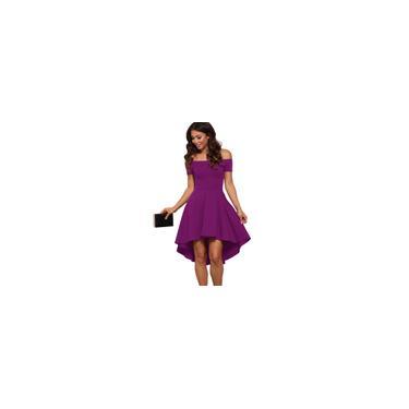Vestido De Ombro Curto Fiesta Formatura Noche Discoteca Tamanho M Cor Violeta
