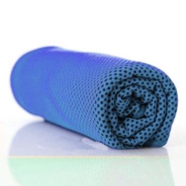 Toalha Fitness Refresh Bene Casa Esportes Academia Azul