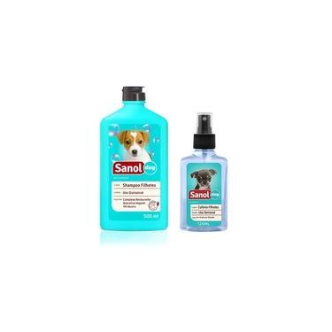 Kit Cães Filhotes Sanol: Shampoo Para cachorro Filhote + Perfume Colonia para Filhote