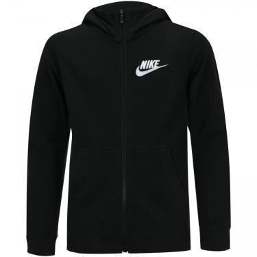 Jaqueta de Moletom com Capuz Nike Hoodie FZ JSY - Infantil Nike Masculino