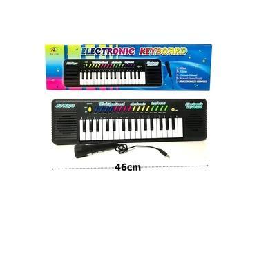 Imagem de Brinquedo Teclado Musical Electronic 32 Keyboard com Microfone Karaoke 2 em 1 - Instrumento Incentivo Presente Crianças Barato