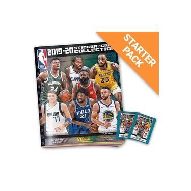 Starter Pack NBA 2019/20 - Livro Ilustrado Capa Cartão + 12