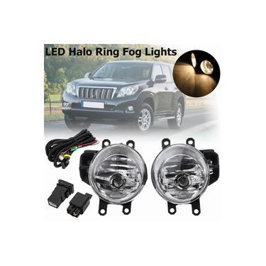 Luz de nevoeiro do carro para toyota rav4 land cruise 2013 2014 2015 amortecedor dianteiro do carro foglights halogênio h16 com acessórios de bulbo e fio