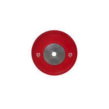 Anilha Olímpica Bumper Plate para musculação 25kg Wct Fitness 10100425