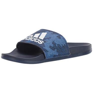 Imagem de Adidas Adilette Comfort Chinelo masculino, Dark Blue/White/Dark Blue, 10