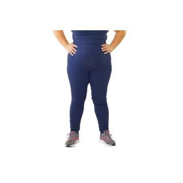 Imagem de Calça Legging Plus Size Básica Feminina Academia Fitness ( Preta, Azul )