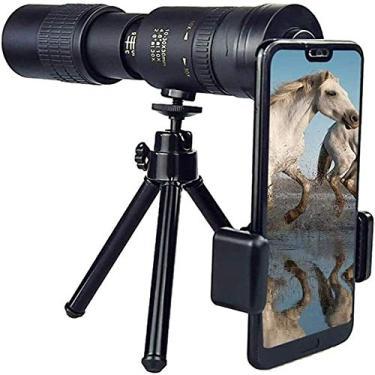 Imagem de Telescópio Monocular Super Tele Zoom 4K 10-300X40mm para Celular, Anel de Luz de Selfie com Suporte de Tripé, Telescópio Monocular Telescópio Compatível com Escalada