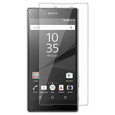 [2 unidades] Protetor de tela premium para Sony Xperia Z5, protetor de tela de vidro temperado transparente resistente a arranhões para Sony Xperia Z5 Premium de 5,5 polegadas [não serve para Sony Xperia Z5]